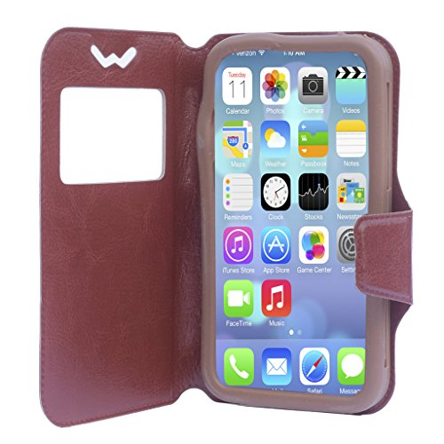 Shopme Premium PU Leather Flip cover for Karbonn titanium S1 Plus (360 degrees protection, foldable flip, caller id, rotating stand for watching movies)(BROWN COLOR)  available at amazon for Rs.199
