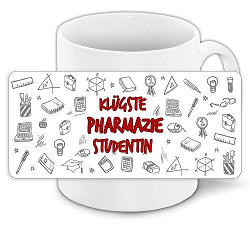 Tasse für-Studenten mit Motiv - Klügste Pharmazie-Studentin - | Studenten-Geschenk | Studenten-Tasse