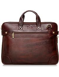 The Clownfish 14 inch Genuine Leather Laptop Bag / Macbook Messenger Bag