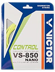 VICTOR Cordaje para bádminton VS-850 Nanotec yellow Set, amarillo, 10 m