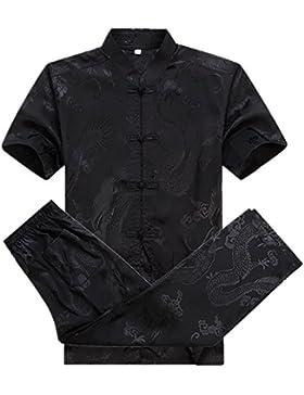 KIKIGOAL Tang-Anzug für Männer Chinesische Kleidung | aus Mulberry Silk und Baumwolle Material für Frühling ,...