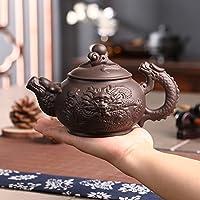 xiduobao Tranditional cinese Kungfu teiera cinese viola argilla Kung Fu Tea Set Teiera in porcellana, verde vaso di ceramica Kung Fu Teiera casa/ufficio/Viaggio.380ml.
