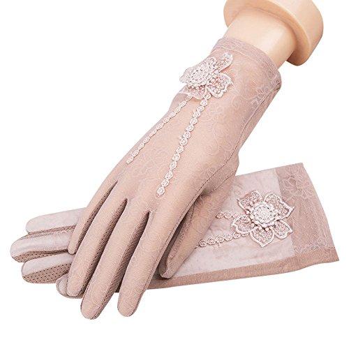 Cutogain 1Paar, Damen, Spitze, kurz, UV-Schutz, für Party, Hochzeit, rose, C