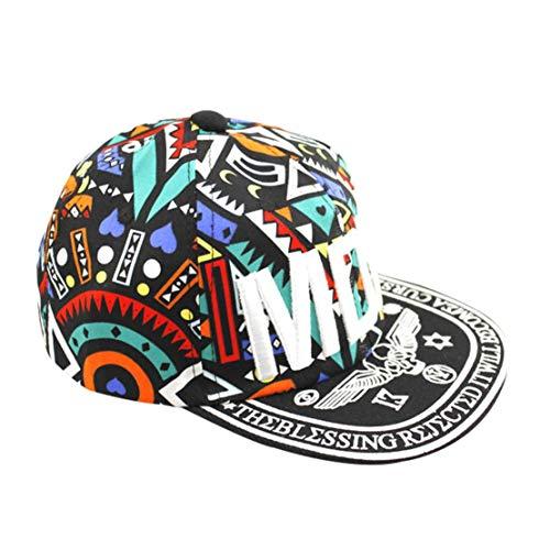 Imagen de  de béisbol unisex de hip hop de dibujos animados de algodón streetwear graffiti totems imprimir hip pop hat para hombres de las mujeres