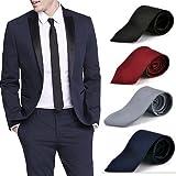 #3: ShopLuvOnline Combo Set of 4 Slim Men's Tie, Necktie For Him Birthday B'day Gift