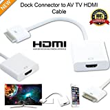 mycs New 1080P Dock Connector zu HDMI TV Adapter Kabel für iPhone 4S & iPad 2 3