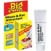 STV International The Big Cheese Mouse and Rat Attractant (Natural, Poison-Free Bait, Attracts Rodent Pests, Re-baits up to 60 Traps), 26 g Tube