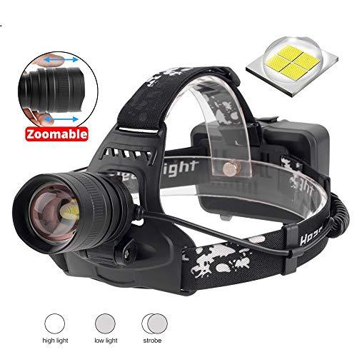 DD/LZY Boruit 2806 Xph70.2 Led-Scheinwerfer Zoombarer 3-Modus-Scheinwerfer USB-Ladegerät Bank Stirnlampe Jagdtaschenlampe 18650 Batterie, Keine Batterie
