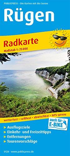 Rügen: Radkarte mit Ausflugszielen, Einkehr- & Freizeittipps, wetterfest, reißfest, abwischbar, GPS-genau. 1:75000 (Radkarte / RK)
