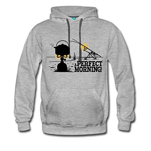 Angeln Perfect Morning Männer Premium Kapuzenpullover von Spreadshirt®