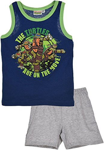 Teenage Mutant Ninja Turtles Shorty Schlafanzug in Blau Gr. 98