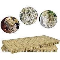 YUOKI99 Rockwool Cubes Hojas de Inicio para Cortes, clonación, propagación de Plantas, Semillas de Cultivo hidropónico Medio para Crecimiento de Plantas vigorosas