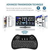 #8: Gopani Mini Wireless Keyboard with Touchpad/Backlit Light & Wireless Mouse Combo for Android/iOS Devices (Black)