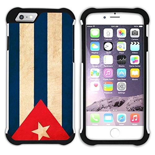 Graphic4You Vintage Uralt Flagge Von Bolivien Bolivianer Design Hart + Weiche Kratzfeste Hülle Case Schale Tasche Schutzhülle für Apple iPhone 6 / 6S Kuba Kubanisch