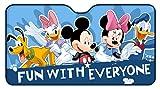 Disney 26063 Mickey&Friends Parasole Anteriore Anticalore in Alluminio, Blu, 130 x 70 cm