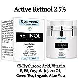 2.5% Active Retinol Moisturizer Face Cream Serum with 5% Hyaluronic Acid, Vitamin E