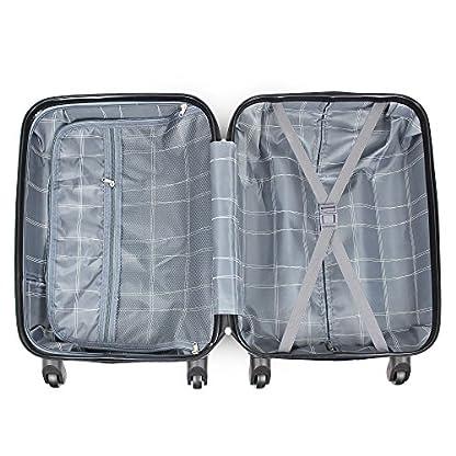 51eyIPKKe1L. SS416  - Todeco - Maleta De Mano, Equipaje de Cabina - Tamaño: 49 x 35 x 21 cm - Material: Plástico ABS - Esquinas protegidas, Llevar-en 51 cm, Rojo, ABS