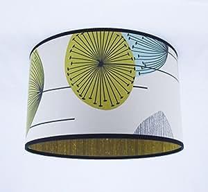 Main d'abat-jour 41cm - Sanderson Dandelion Clocks / soie Harlequin