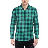 Dennis Lingo Men's Cotton Green Checkere...