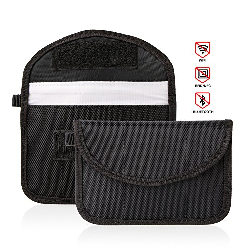 RFID Key Signal Abschirmung Tasche, Creny Auto Keyless Entry Fob Schutz Signal Blocker Faraday Tasche