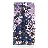 Kucosy Samsung Galaxy A8(2018) 3D Gemaltes Muster PU Leder Folio Brieftasche Schutzhülle Muster Bunt Malerei Tasche Hülle Anti-Scratch Handytasche Backcover für Samsung Galaxy A8(2018)