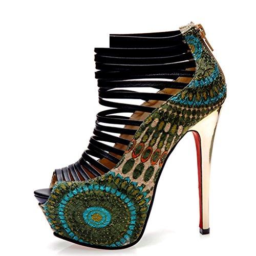 Sexy fisch mund high heels/Fein mit hochhackigen wasserdichten schuhen B