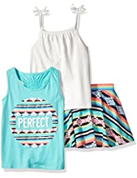 The Children's Place Baby Big Girls' 3-Piece Skirt and Tops Set