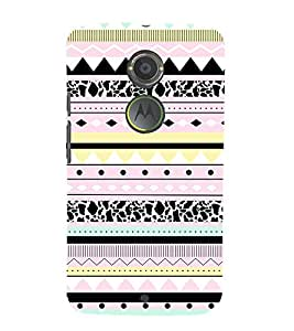 Multicolor Pattern 3D Hard Polycarbonate Designer Back Case Cover for Motorola Moto X2 :: Motorola Moto X (2nd Gen)