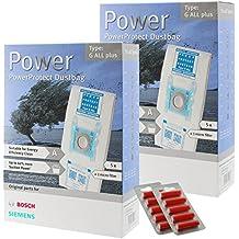 Bosch tipo G Genuine PowerProtect gamuza de microfibra bolsas + filtros aspiradora (lote de 10+ 10ambientadores)