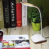 #10: SaleOn™ Rechargeable LED Touch On/Off Switch Desk Lamp Children Eye Protection Student Study Reading Dimmer Rechargeable Led Table Lamps USB Charging Touch Dimmer(White)-738