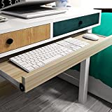 """under-desk comfort tastiera cassetto piattaforme mobili ufficio porta tastiera scorrevole cassetti Fashion barre porta computer da tavolo, White Maple, 24x11"""""""