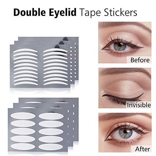 HailiCare Augenlid Lifting Tape, Doppelseitige Klebeband Aufkleber Augenlidklebeband mit 200 Paar Schlank + 200 Paar Breit