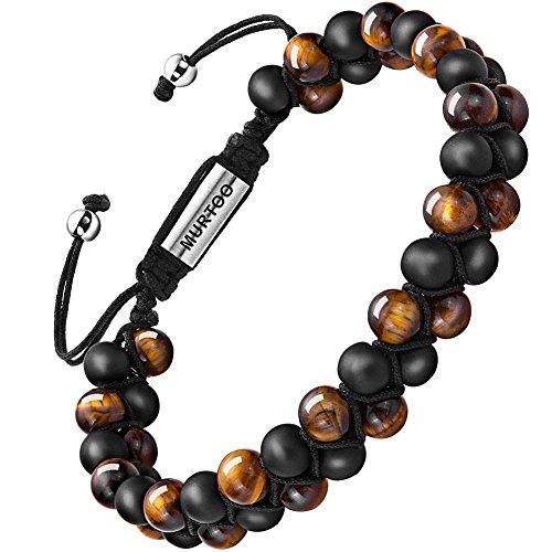 Bracelet en pierre naturelle pour les hommes,...