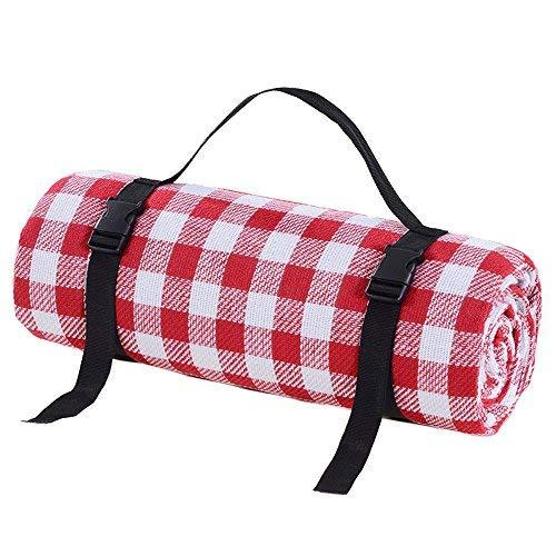 Xuanhome Picknick Decken Outdoor Teppich Matte Rot und Weiß Gitter 200* 150cm große Größe für Spring Reisen, Camping, Wandern