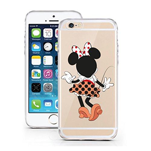 ür iPhone 7 & 8 aus TPU mit Girl Mouse Maus Mädchen Kleid Schleife Print Design Schutz Hülle Protector Soft Extra (Kleid Ip)