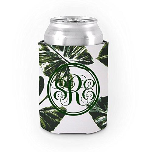 (Personalisierte isoliert kann Kühler grün Palme Dickes Neopren Kann Koozies Funny Drink Isolator Isolierter Getränkehalter)