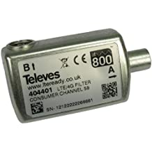 Televes 404401 - Filtro lte hr cei 47.782mhz c21-59