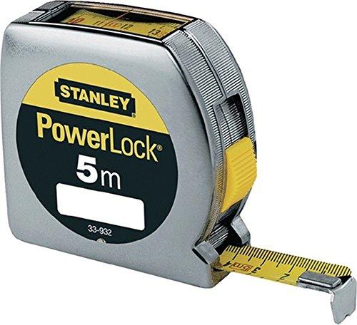 Preisvergleich Produktbild Bandmaß Powerlock L.5m m.Sichtfenster verchromtes Kunststoffgehäuse Stanley