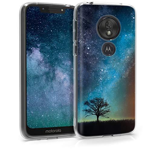 kwmobile Motorola Moto G7 Play Hülle - Handyhülle für Motorola Moto G7 Play - Handy Case in Blau Grau Schwarz
