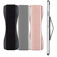 kwmobile Smartphone Fingerhalter 3er Set - Handy Halter Griff Halterung Einhandbedienung - 3X Handyhalter in Schwarz Silber Rosegold