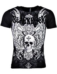c74bf6e981b93c Black Rock T-Shirt - Skull - Wings - Totenkopf - mit Strass Steinen -