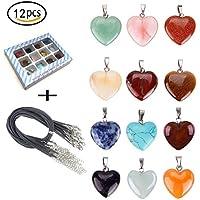 b7e4e0ca7a19 tpocean corazón collar de piedra de curación Chakra piedras de cristal para  fabricación de joyería colgantes