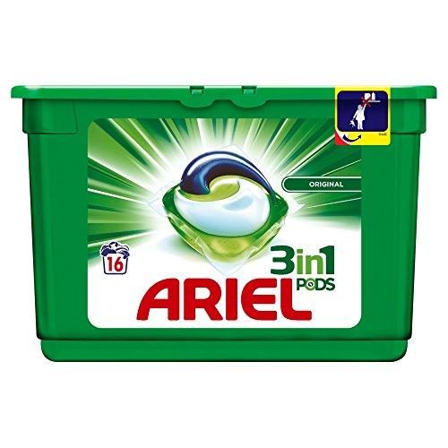 Ariel 3en1 Pods Ecodoses Original Lessive en Capsules 16Lavages