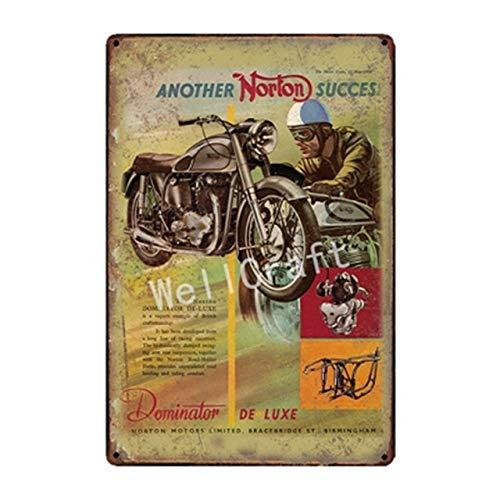 lotuwio Norton BSA Metall Zeichen Wand Poster Plaque Motor Wandmalerei Antike Vintage Bar Pub Dekor Sa 1834 -