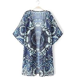 Blusa de Mandalas para mujer. Máxima comodidad. Color azul.