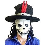 Slash Estilo Calavera Máscara De Látex con sombrero Guns Rosas Disfraz Despedida De Soltero