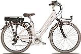 28 Zoll Elektro Damen Fahrrad Montana E-Bluecity, Farbe:Weiß, Rahmengröße:44cm