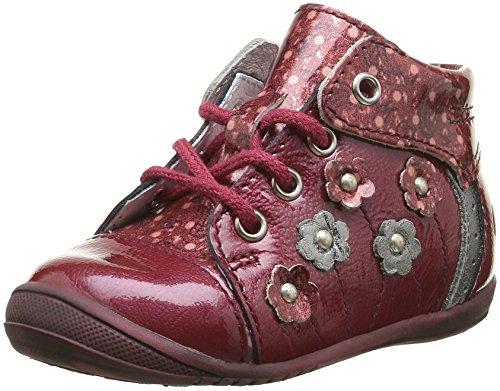 GBB Nayana, Chaussures Premiers Pas Bébé Fille Rouge (36 Vvn Bordo/Imprimé Dpf/Kezia)
