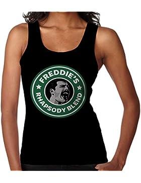 Freddie Mercurys Rhapsody Blend Starbucks Logo Women's Vest