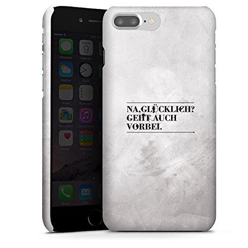 Apple iPhone X Silikon Hülle Case Schutzhülle Sprüche Glücklich Statement Premium Case glänzend